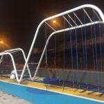 Curvado de tubo redondo para mobiliario urbano